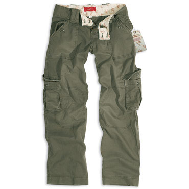 LADIES Trousers Olive Washed / Pantalones Chica Oliva