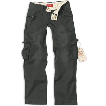 LADIES Trousers Black Washed / Pantalon Chica Negro