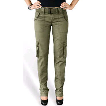 69c23954a1b0 SURPLUS Ladies Premium Trousers SLIMMY Olive Washed