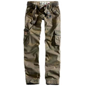 SURPLUS Ladies Premium Trousers SLIMMY Woodland Washed/ Pantalón chicaCamuflaje