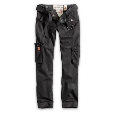 SURPLUS Ladies Premium Trousers SLIMMY Black Washed/ Negro Desgastado