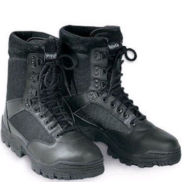 SURPLUS Security Boots 9 eyelet black / Botas de seguridad negras de 9 agujereros