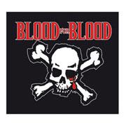 BLOOD FOR BLOOD Skull Sticker PVC