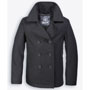 BRANDIT Pea Coat Black Coat