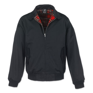 BRANDIT Lord Canterbury Black Harrington Jacket