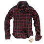 BRANDIT Wire Shirt Red/Black Checkered Shirt