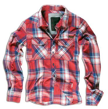 Brandit Check Shirt Red Checkered Shirt