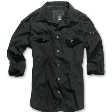 Brandit Wire Shirt Darkgrey/Purple Checkered Shirt