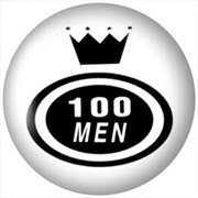 100 MEN Chapa/ Button Badge