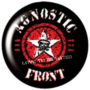 AGNOSTIC FRONT Army star Chapa / Button badge