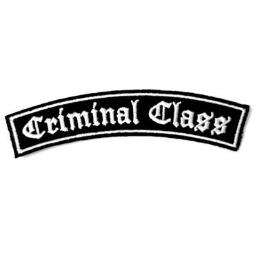 Skinhead Oi! band CRIMINAL CLASS Logo Shoulder patch