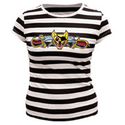THIRTYSIX Pirate Cat Stripes Girl T-shirt / Camiseta de chica a rallas