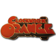 CLOCKWORK ORANGE logo belt buckle