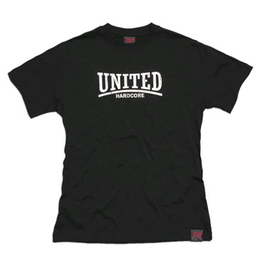 united hardcore camiseta negro hardcore united