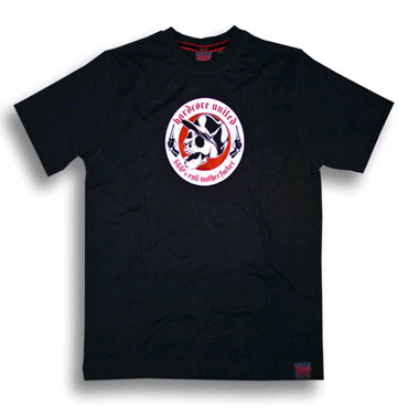 skull & guns black t-shirt hardcore united