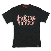 HARDCORE UNITED Slim Fit CLASSIC T-shirt Big Front Black