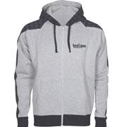 Hooded Sweatjacket Big Stripe grey HOOLIGAN STREETWEAR