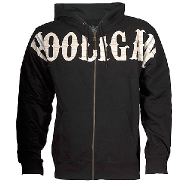 Hooded Sweatjacket Visual Black / Negro Hooligan Streetwear