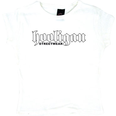 TS Old School white / Camiseta de chica blanca
