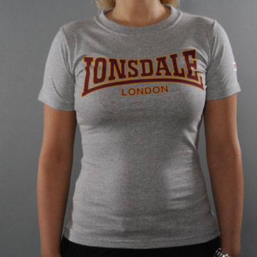 LONSDALE CLASSIC Ladies T-Shirt Marl Grey 110594 - Lonsdale London
