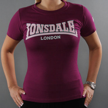 LONSDALE CLASSIC Ladies T-Shirt Purple 110594 - Lonsdale London