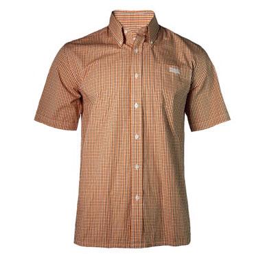 LONSDALE S/S Shirt TARTAN Orange/Black 110624 - Lonsdale London