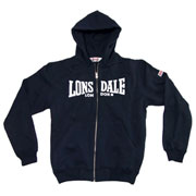 nottingahm navy hooded zipsweat lonsdale