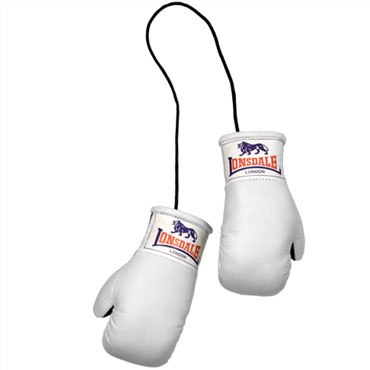 LONSDALE Mini Boxing Gloves White / Mini Guantes de Boxeo Lonsdale London