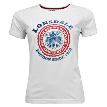 LONSDALE Ladies T-Shirt ABIGAYLE White/Blanco CHICA