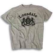 LONSDALE LOGO T-Shirt CREST Grey 112043 - Lonsdale London