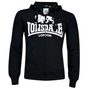 Lonsdale Hooded Zipsweat KRAFTY Black