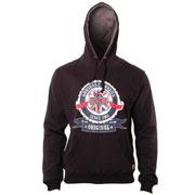 Lonsdale Slim Fit Hooded Sweatshirt CHADWICK Black