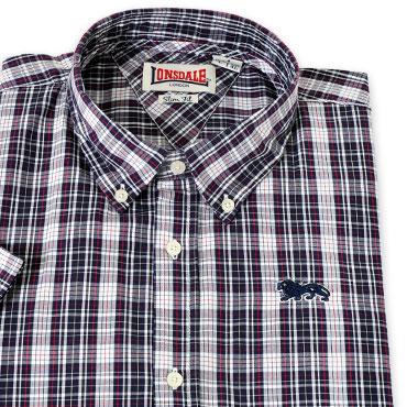 LONSDALE SHort Sleeve Shirt RICHY Black / Red / White camisa