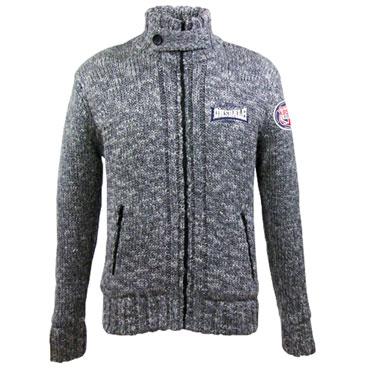 LONSDALE SOLIHULL Men Knitjacket Marl GREY / chaqueta
