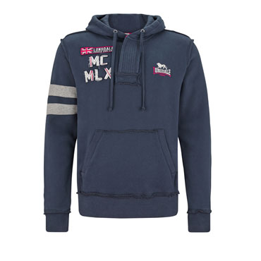 LONSDALE BEKESBOURNE Men Hooded Sweatshirt Navy