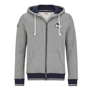 Hooded Zipsweat LONSDALE HAWKINGE Men Marl Grey