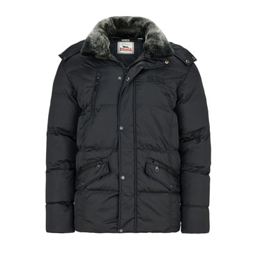 LONSDALE HERNE COMMON black Hooded Winterjacket
