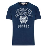 LONSDALE Mens T-shirt SIDCUP Navy picture