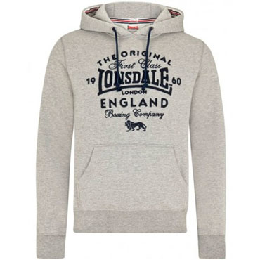 Picture for LONSDALE DETLING Hooded Sweatshirt Grey