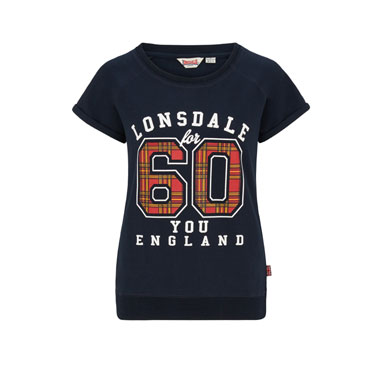 LONSDALE STOCKBRIDGE Ladies Stretch Sweat shortsleeve Sudadera manga corta Azul Marino