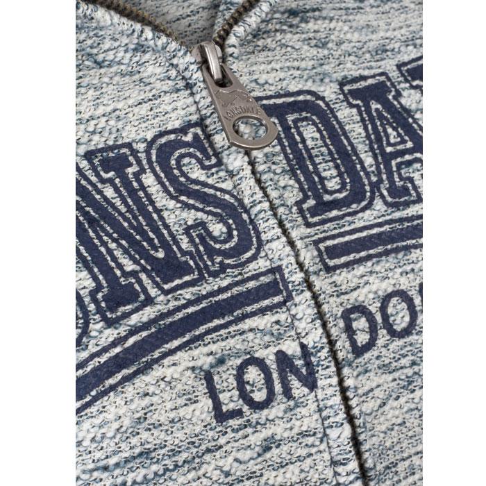LONSDALE MELKSHAM Ladies Hooded Zipsweat Raglan Azul
