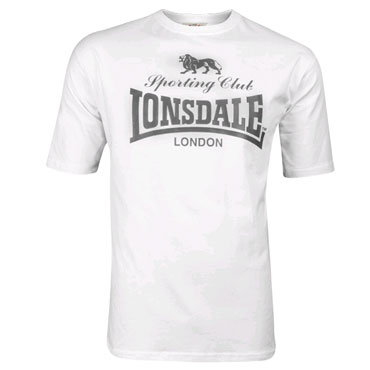 LONSDALE SPORTING CLUB T-shirt White 118018 - Lonsdale London