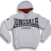 LONSDALE WHITECHAPEL Hooded Sweatshirt White 118021 - Lonsdale London