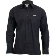 LONSDALE Longsleeve Button Down Shirt PLAIN Black 110840 - Lonsdale London