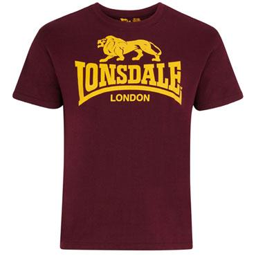 LONSDALE Logo T-shirt Oxblood camiseta Granate