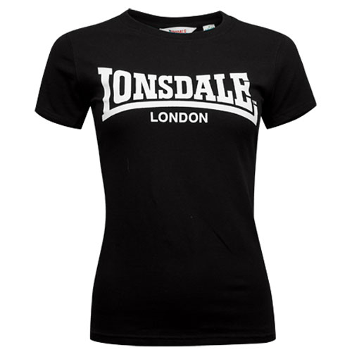 LONSDALE Ladies T-shirt Basic Logo Black camiseta chica