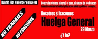 RUNNIN RIOT MAILORDER DE HUELGA GENERAL EL 29 DE MARZO