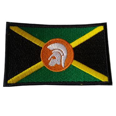 CASCO TROJAN CON BANDERA JAMAICA Parche