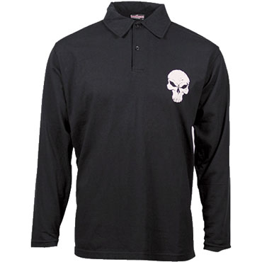 HOOLY Polo manga larga Negro / Polo shirt HOOLIGAN STREETWEAR