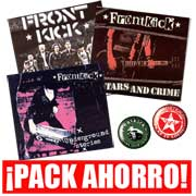 BARGAIN PACK FOR THE FIRST 3 FRONTKICK ALBUMS PLUS 2 BUTTON BADGES... SAVE 26%
